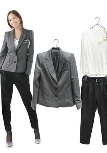 职业=西装+西裤-西装搭配计 优雅OL华丽转身